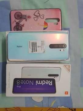 Redmi note 8pro 6gb 128gb white color under warranty for sale.