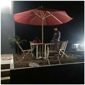 Meja payung taman,pantai, kolam,tempat wisata, kantin, vila, resro