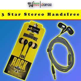 3 Star Stereo Handfree High Bass With HQ Sound