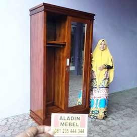 Lemari Jati Pintu 2 Sleding Murah Waru