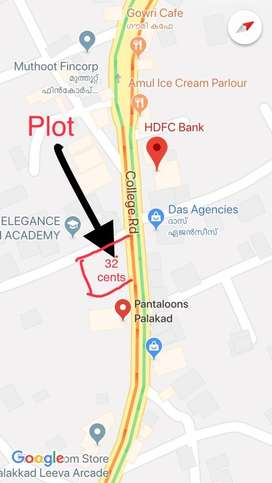Prime commercial land in Palakkad town