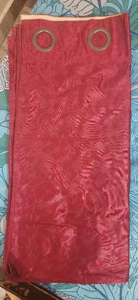 Curtains reddish maroon