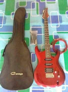Gitar elektrik fullset lengkap dgn tambahan dapat tas dan kabel sound