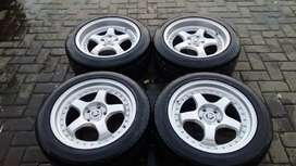 Velg Racing model work R18 pcd 5-114,3 Velg+Ban