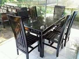 Set meja makan minimalis jati ajf608