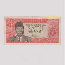 uang jadul 1 rupiah Soekarno