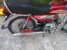 Bike for sale united model 2019 with double saman peshawar number