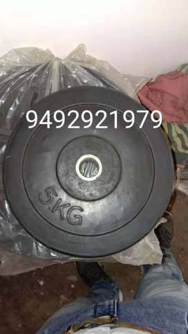 Dumbbell and plates 1kg 100/-