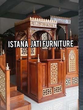 mimbar kayu jati masjid dan mushola mimbar kayu jati