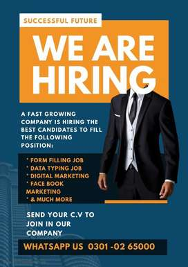 We are in search of best candidate for Multiple Data Entry job