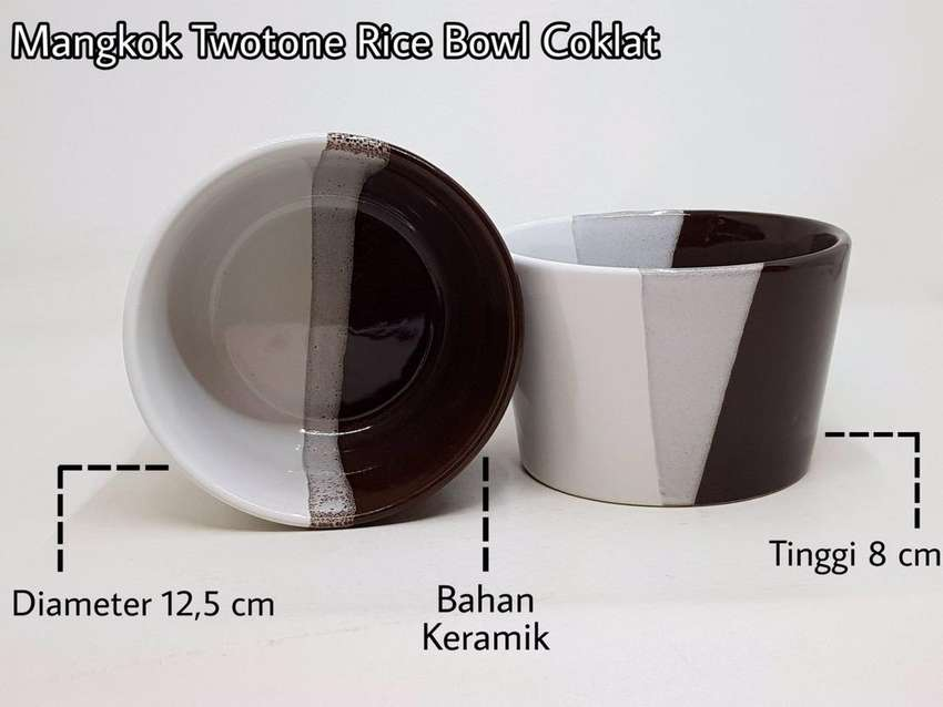 Mangkok Keramik Twotone Ricebowl 0
