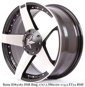 Velg Bisa Kredit RASTA JD85282 HSR R17X75 H8X100-114,3 ET35 BMF