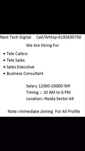 hiring for sales executive