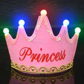 LED Crown King / Princess for Birthday and Baby Shower