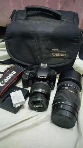 Canon 1000D 2 lensa