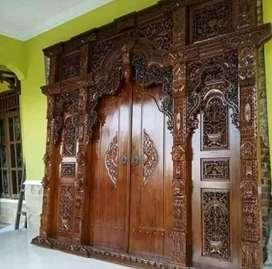 Pintu kusen GEBYOK kayu jati