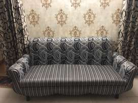 Sofa set with center table.