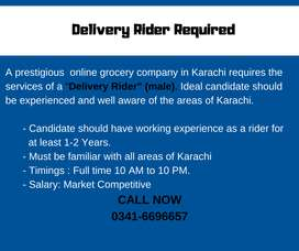 Delivery Rider Required