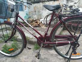Maroon colour good condition bicycle
