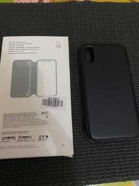 Flip Flop Leather original apple for iphone X. Warna Hitam