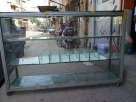 Glass counter and Steel Rack