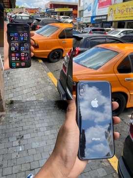 Iphone X 64gb garansi inter kondisi mulus fullset no minus sinyal 4G