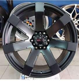Velg Mobil Fortuner HSR R20 model offroad warna hitam