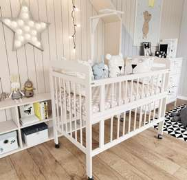 Tempat tidur bayi box bayi never been used FREE kelambu dan bedcover