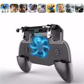 BATTLEGROUND Gamepad Grip Trigger Aim L1 R1 PUBG Fortnite +Cooling Fan