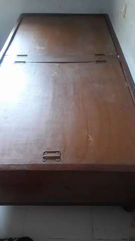 Wooden Box type bed in good condition