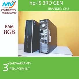 hdd 500gb>3yrs warranty replacement*8GB ram@i5 3rd gen-2gb graphic>cpu