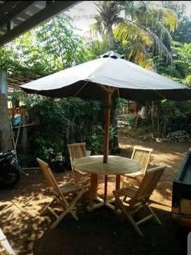 Meja taman,kursi taman,meja pantai,meja kolam,meja payung jati