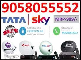 Tatasky HD Connection With 6 Month PKG Tata sky AIRTEL DishTV HD Book!