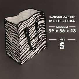 Tas Belanja/Tas Laundry Motif Zebra S (39x36x18cm)