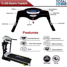Alat fitness total treadmill elektrik TL 629 3 fungsi ZY412