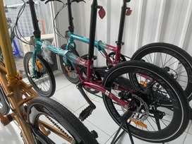 Sepeda Lipat Element Folding Bike Clip 451 8 Speed