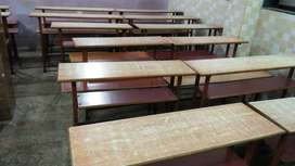 Wooden benches for coaching class.
