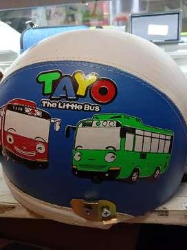 Helm Tayo biru putih