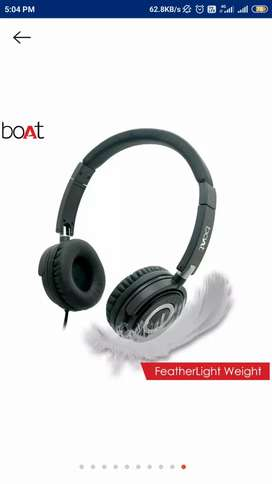 Boat bassheads 900 black over-ear wired headphone