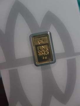 Logam mulia emas batangan ANTAM 2 gram
