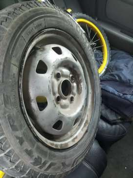 Tyre with rim 145/70/13