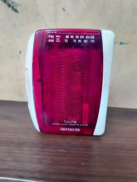 Jual walkman aiwa TA176 kondisi hidup radio kaset agak
