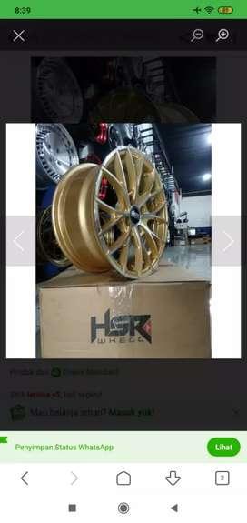 Jual pelek racing hsr naples r15 h4x100 gold