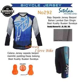 AF138 Harga Promo Setelan Baju Dan Celana Sepeda Gratis Onkir Dan Baya