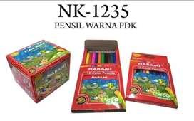 Pensil warna 3,5inc pendek 12 warna