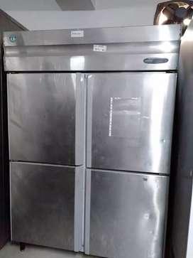 Used restaurant commercial kitchen equipment ss 4 door vertical fridge