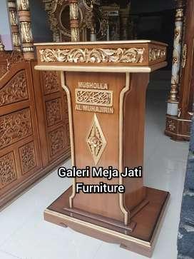 Mimbar masjid  kode E208 kayu jati
