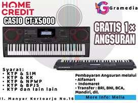Promo Kredit Casio CT-X5000 Gratis 1× Angsuran di Gramedia Manyar