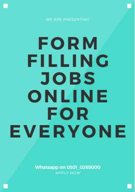 We always give genuine jobs- Form filling jobs are here