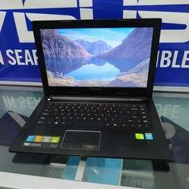 Laptop gaming Lenovo Ideapad VGA 2GB RAM 4/500 GB Murah Mulus Free Tas